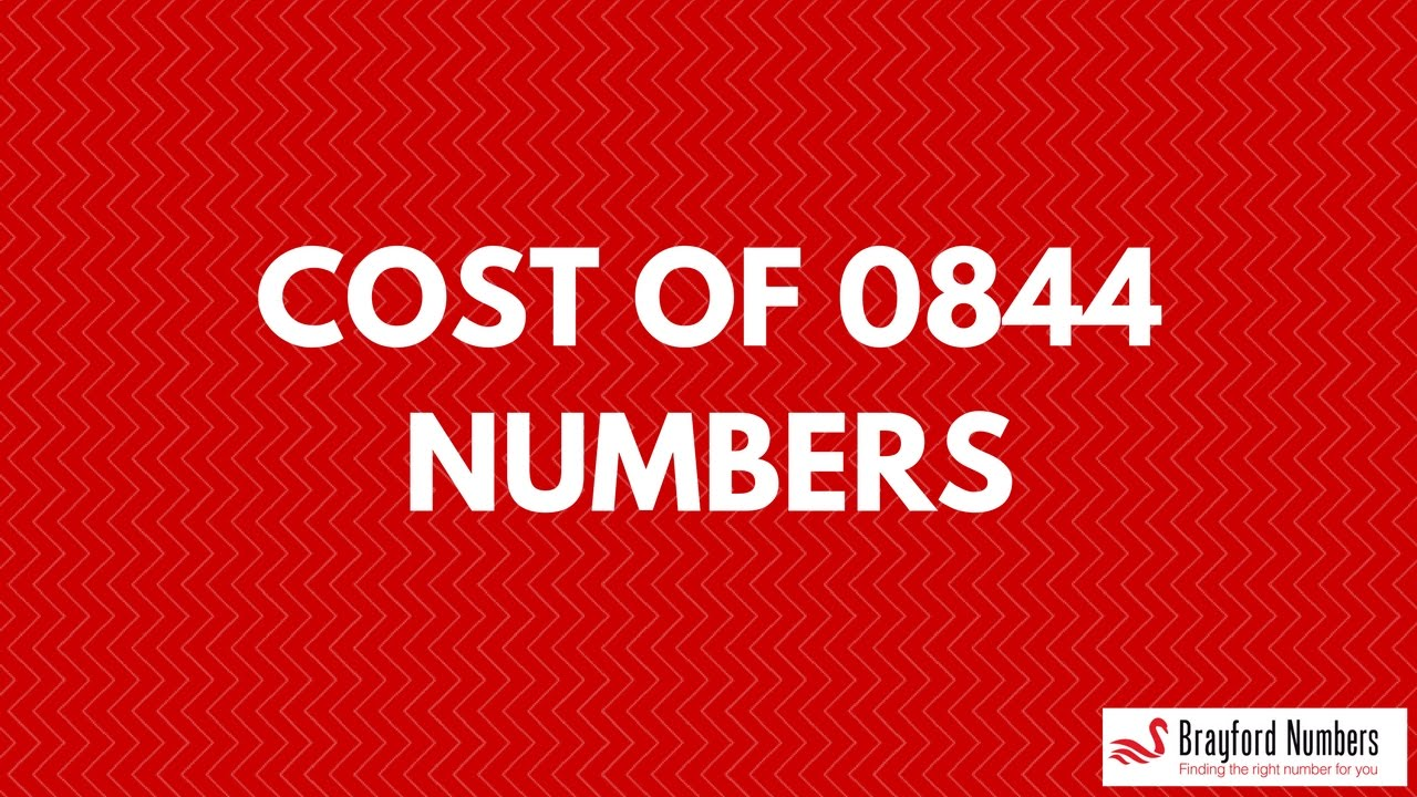 Cost of 0844 Numbers